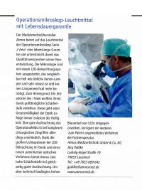 KTM Krankenhaus Technik + Management Ausgabe April 2016: Operationsmikroskop-Leuchtmittel